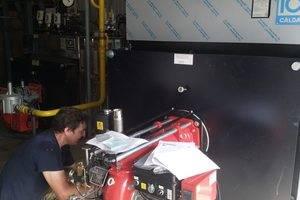 Установка двухтопливной горелки 940 МВт на паровой котел